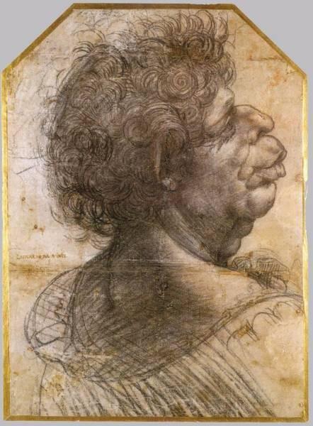 Leonardo da Vinci Grotesque head